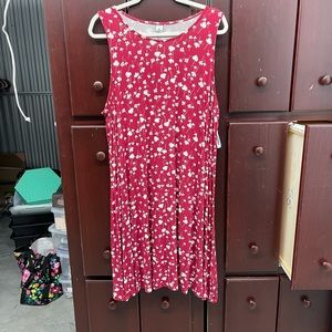 Old Navy - Red and White Floral Sleeveless Dress